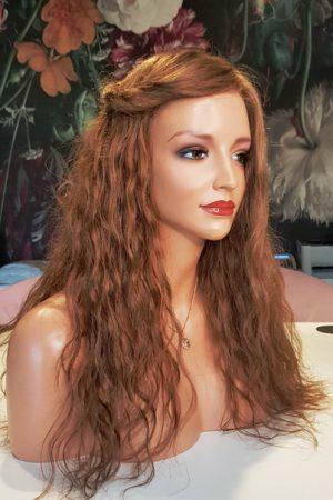 Nr 8 naturalny rudy fale peruka naturalna